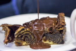 Photo - Jonny Rothfield's Chocolate Babka Bread & Butter pudding (credit Ian Sargent)