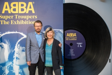 04 Björn Ulvaeus and Jude Kelly at the launch of ABBA_ Super Troupers at Southbank Centre credit Victor Frankowski
