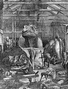 Benjamin Waterhouse Hawkins' studio in Sydenham, where he made the Crystal Palace Dinosaurs. Wikipedia Image.