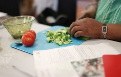 Cooking class for Public Health website, Greenwich council, on Friday May 18, 2018.