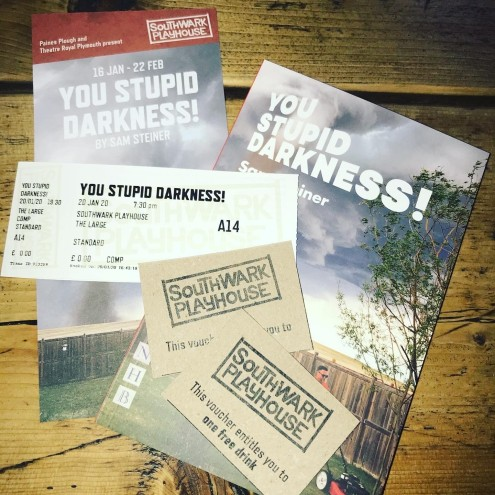 South East London Blog, You Stupid Darkness! Sam Steiner, Southwark Playhouse, SE1